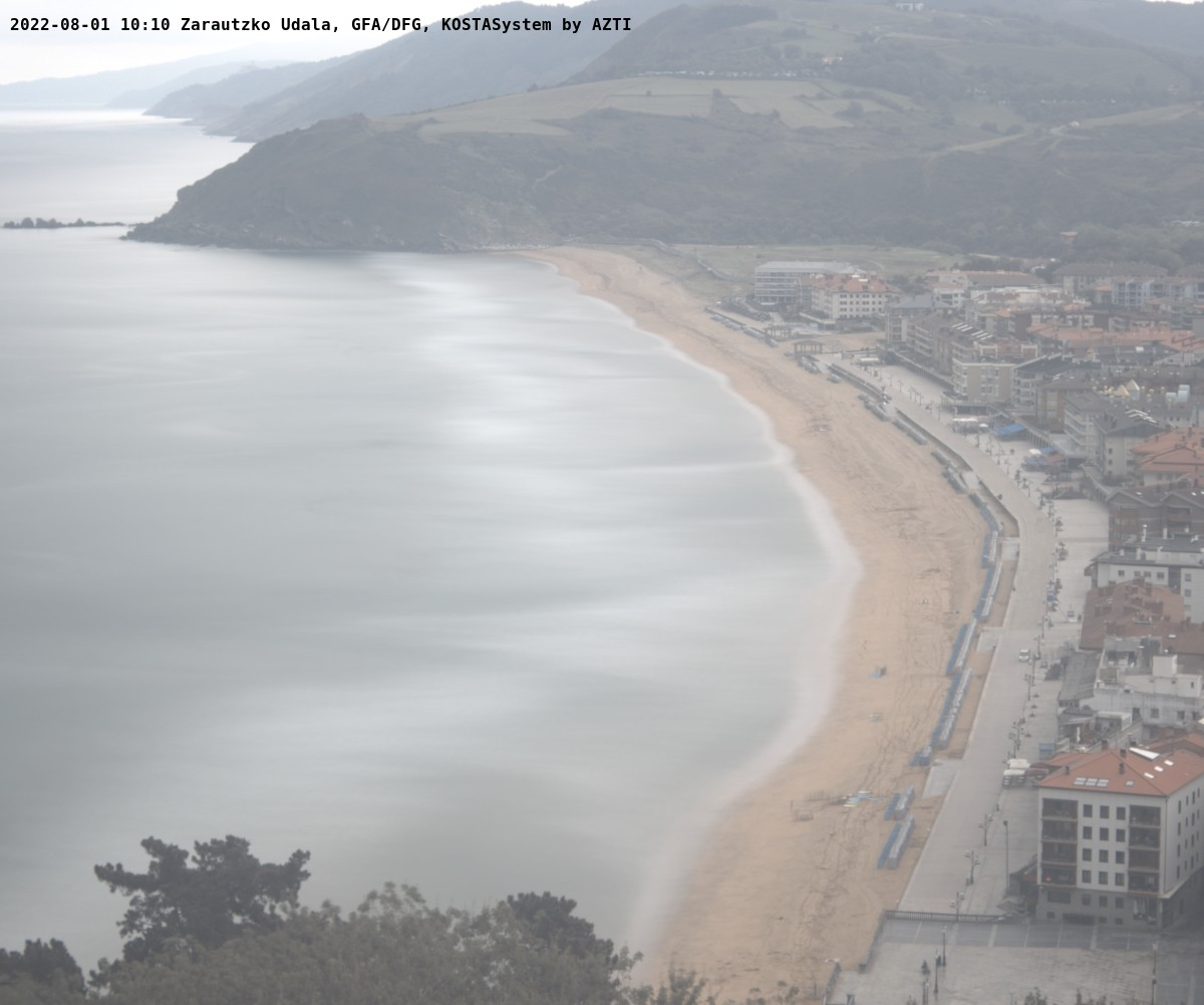 Webcam de la playa de Zarautz
